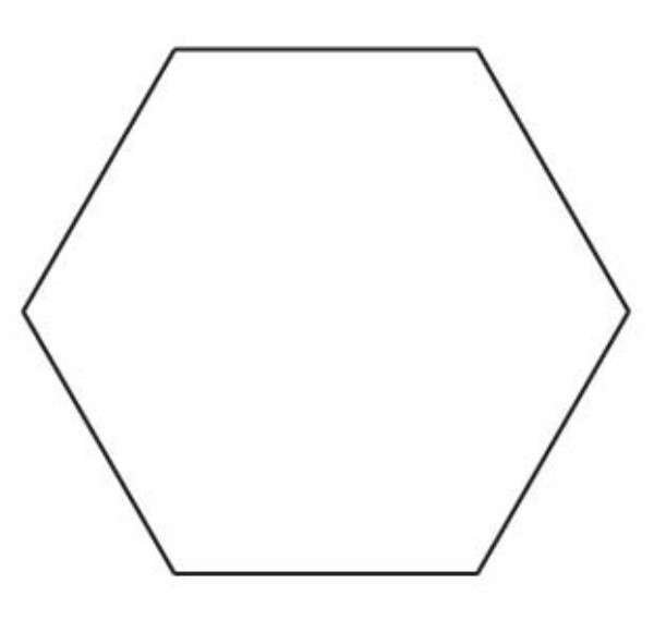 1-1/2in Hexagon Template