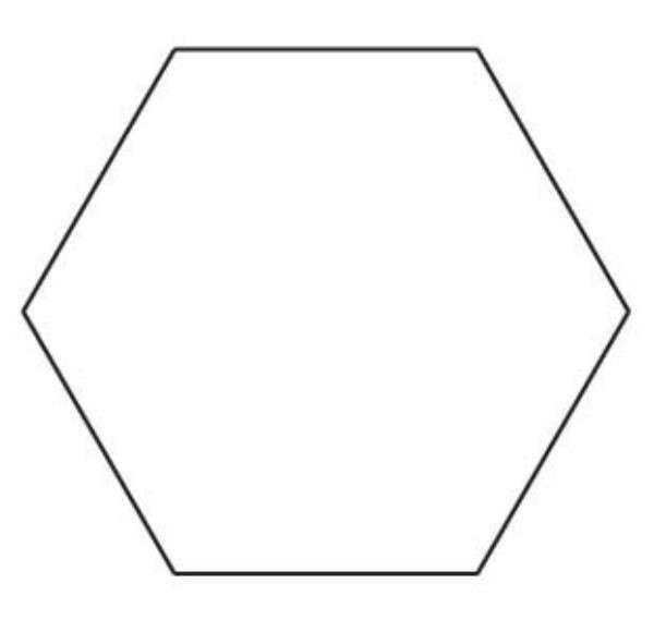 1-1/4in Hexagon Template