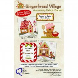 Gingerbread Village Accessory Fabric Packet Pattern