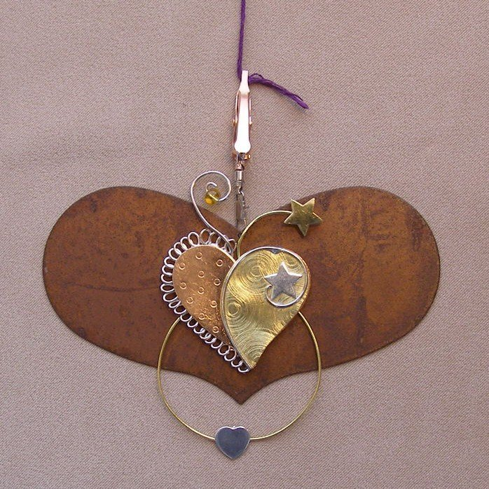 Puffin - Large Heart with Heart Craft Strand Separator