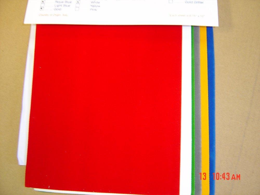Floriani Appli-Stitch Fabric Velvet 6-Pack
