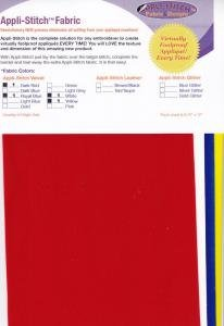 Floriani Appli-Stitch Velvet Fabric 4-Pack
