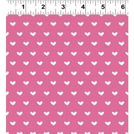 Clothworks - Vintage Valentine Y2029-73 Dark Pink