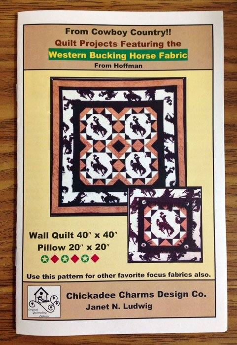 Western Bucking Horse Fabric Pattern