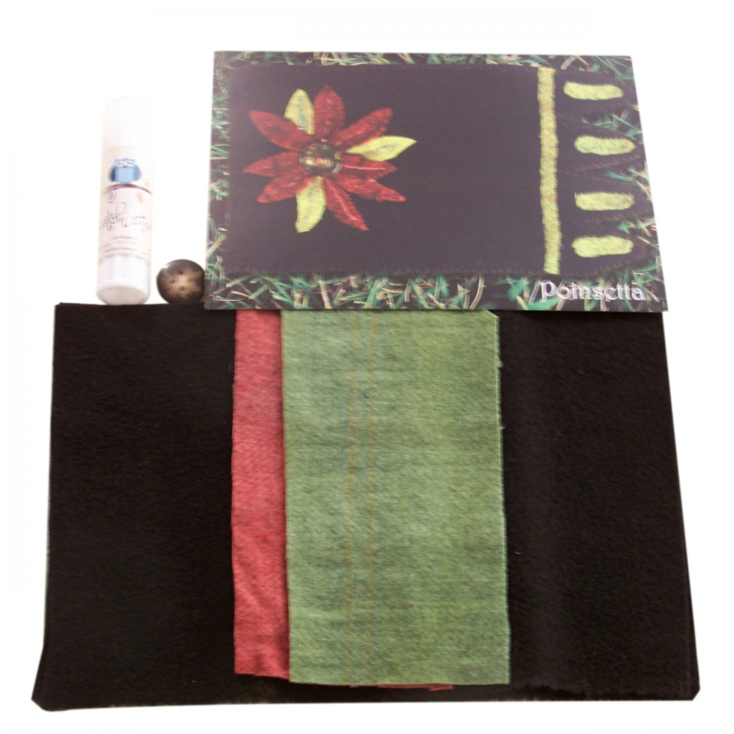 Mug Rug Poinsettia Kit