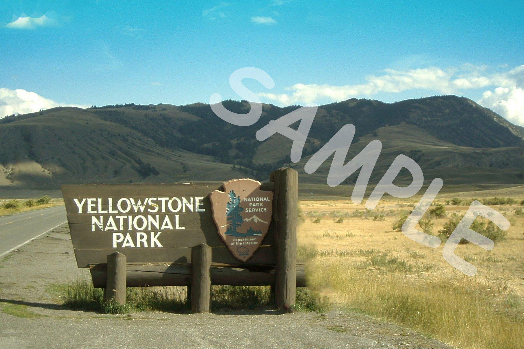 Yellowstone Sign Fabric Block