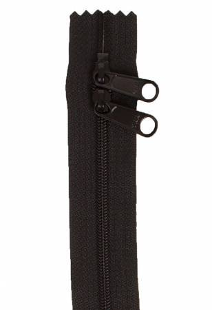 Handbag Zipper, 30-Inch Double Slide, Black