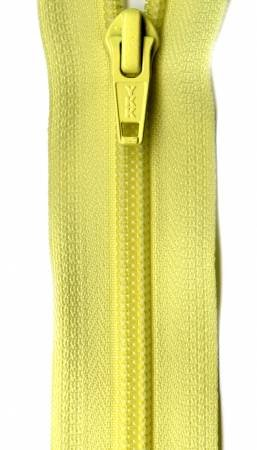 Ziplon 1-Way Separating Zipper 24in Canary