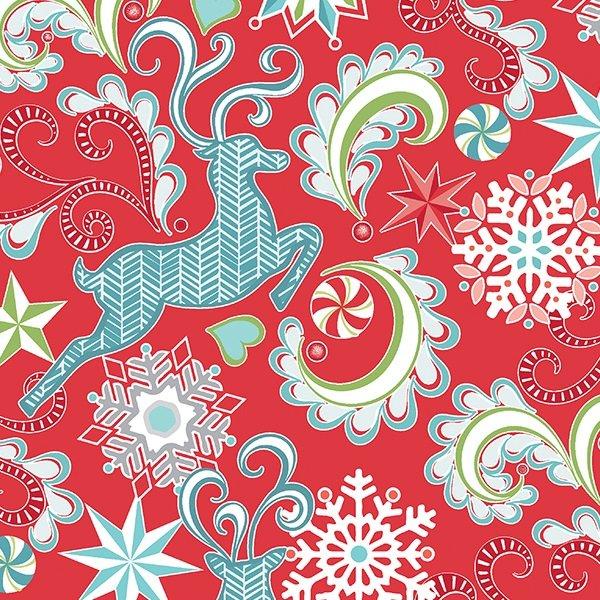 Nordic Reindeer- Red