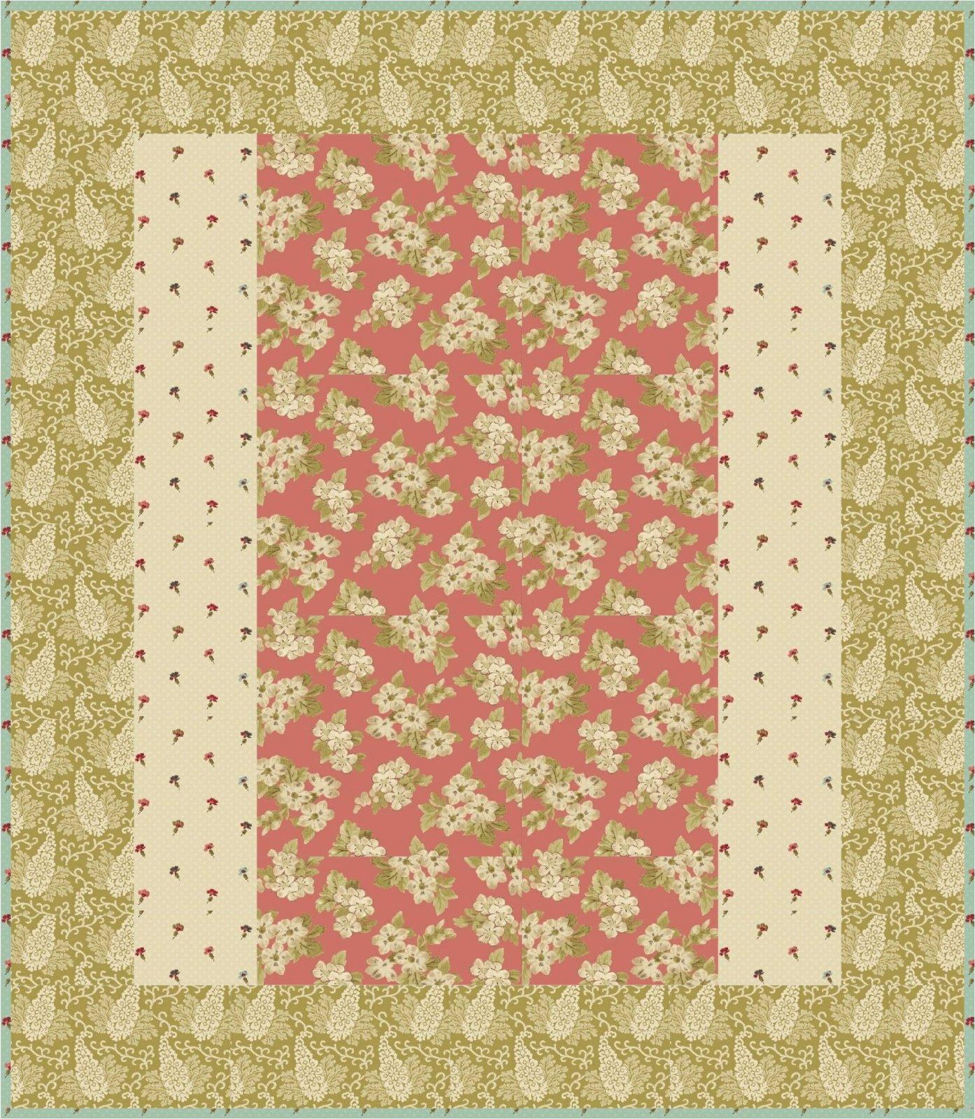 Green Aubrey 1 Hour Quilt Kit