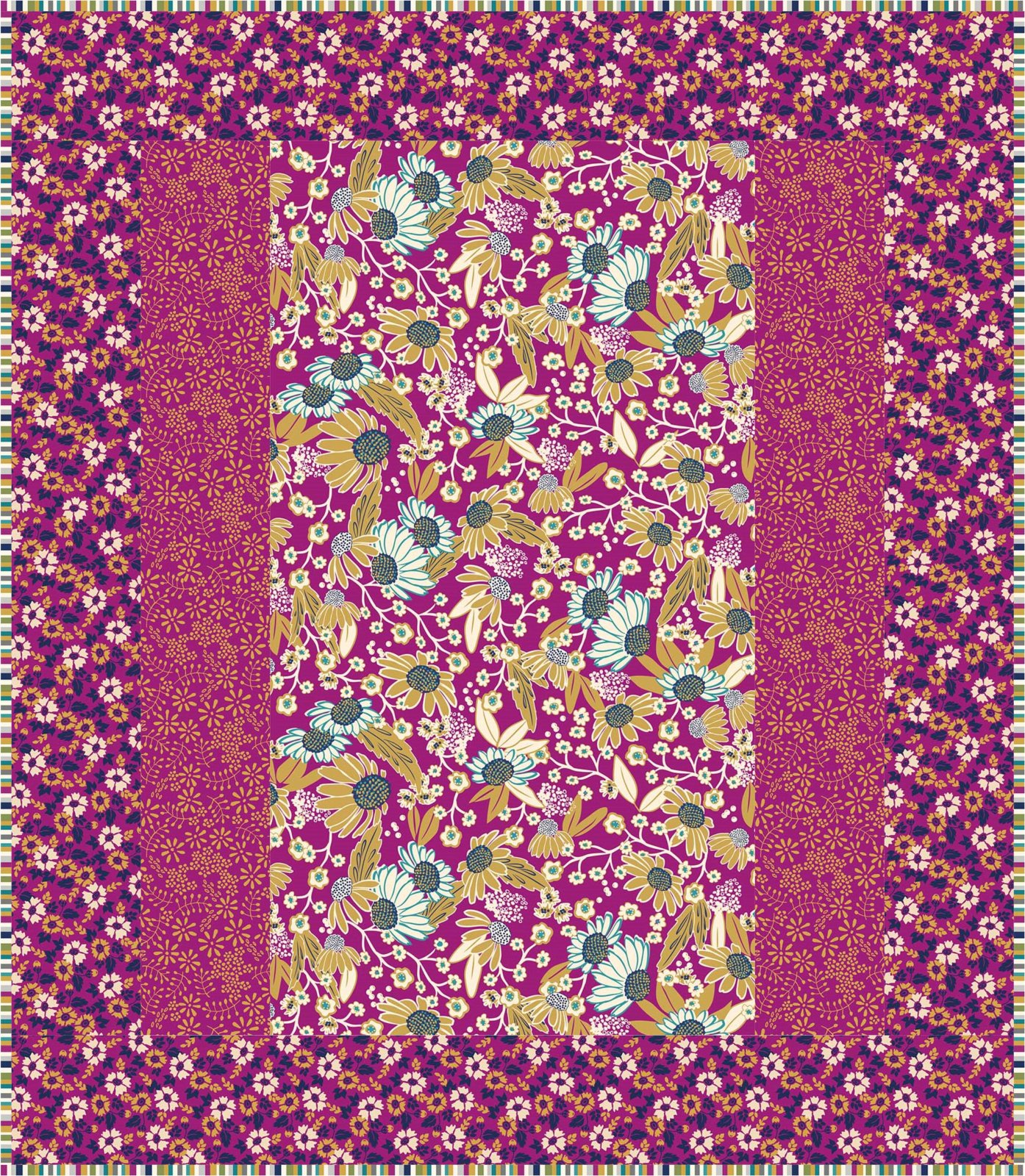 Purple Willowberry 1 Hour Quilt Kit