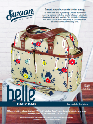 Belle Baby Bag pattern from Swoon Sewing Patterns by Alicia Miller