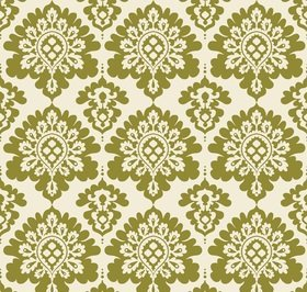 Christmas Damask Green