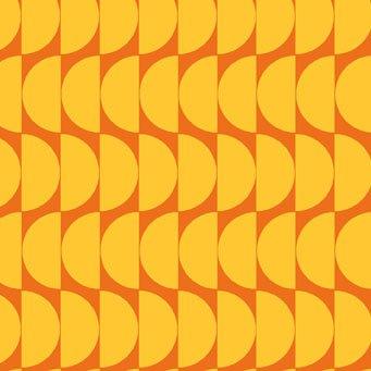 Bloom Modern II Demi-Circles Orange-Red