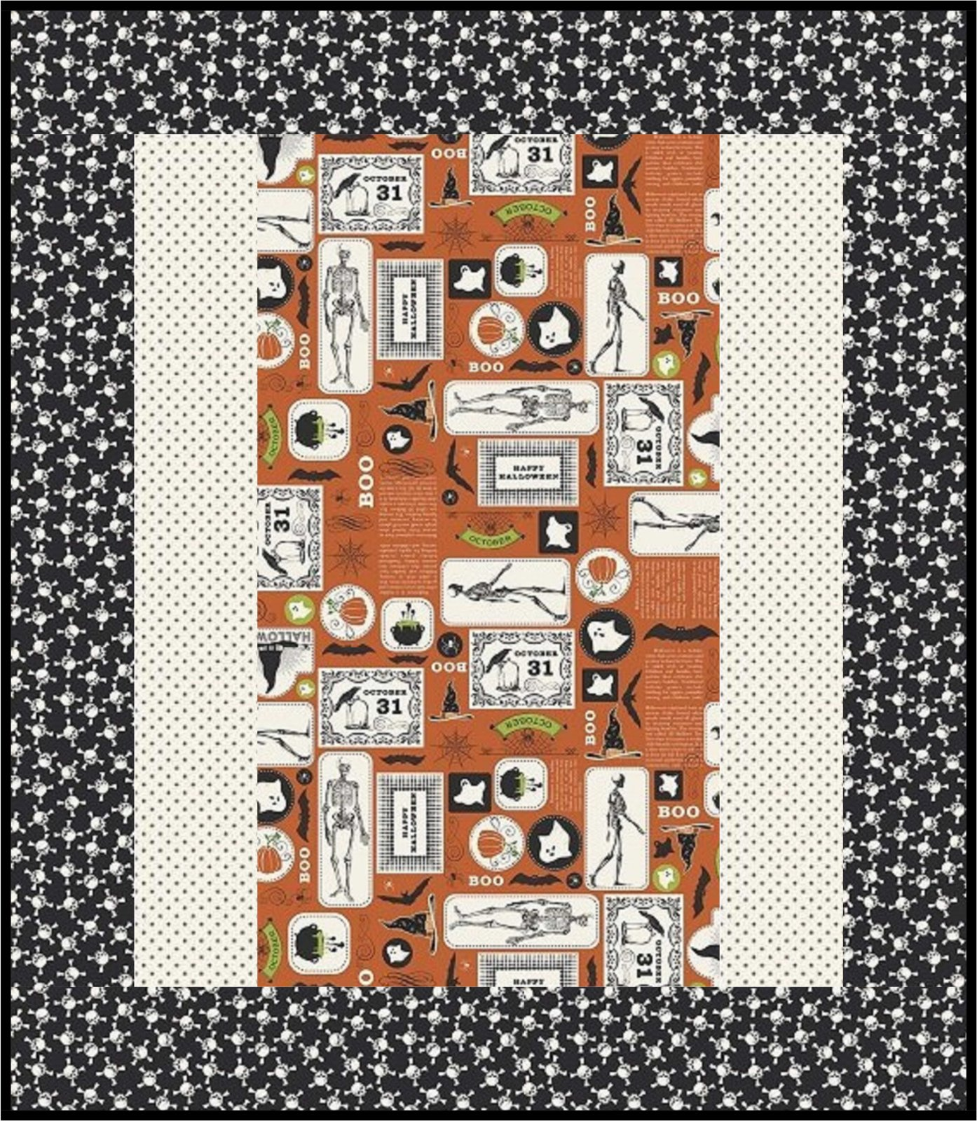 Eek Boo Shriek 1 Hour Quilt Kit