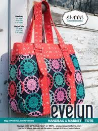 Evelyn Market Tote pattern from Swoon Sewing Patterns by Alicia Miller