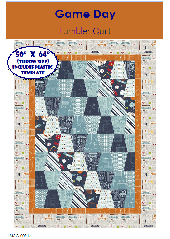 Game Day Tumbler Quilt Kit