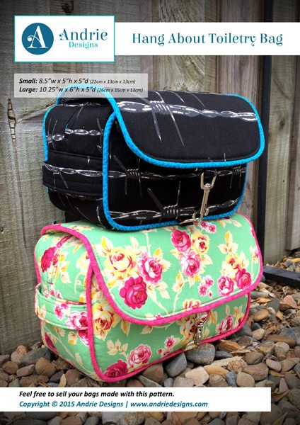 Hang About Toiletry Bag Acrylic Templates