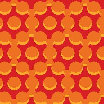 Bloom Modern II Hex Dots Orange-Red