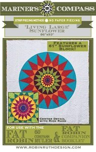 Fat Robin Living Large Sunflower Quilt Pattern