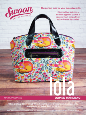 Lola Domed Handbag Pattern From Swoon Sewing Patterns By Alicia Miller