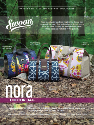 Nora Doctor Bag pattern from Swoon Sewing Patterns by Alicia Miller