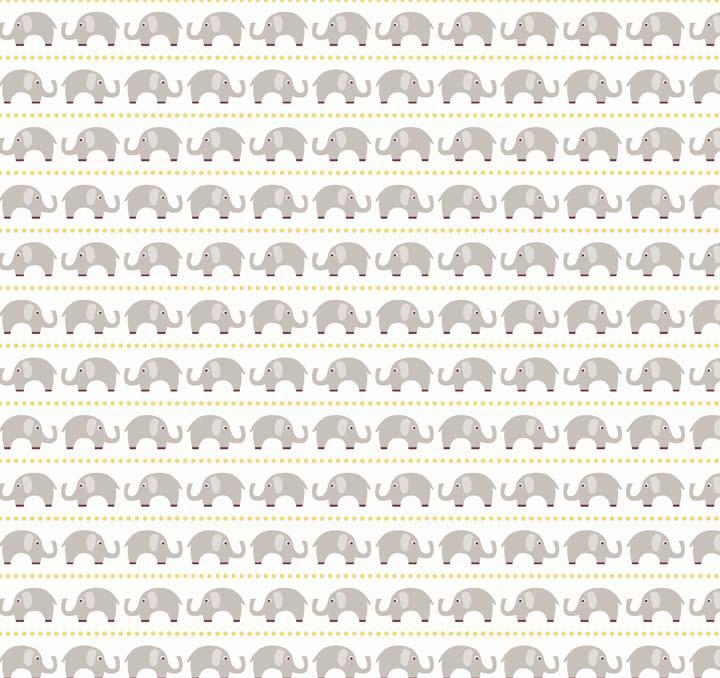 Oh Boy Boy Elephants Gray C3301 Gray