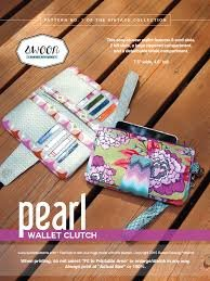 Pearl Wallet Clutch pattern from Swoon Sewing Patterns by Alicia Miller
