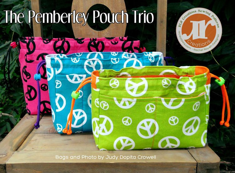 The Pemberley Pouch Trio Acrylic Templates