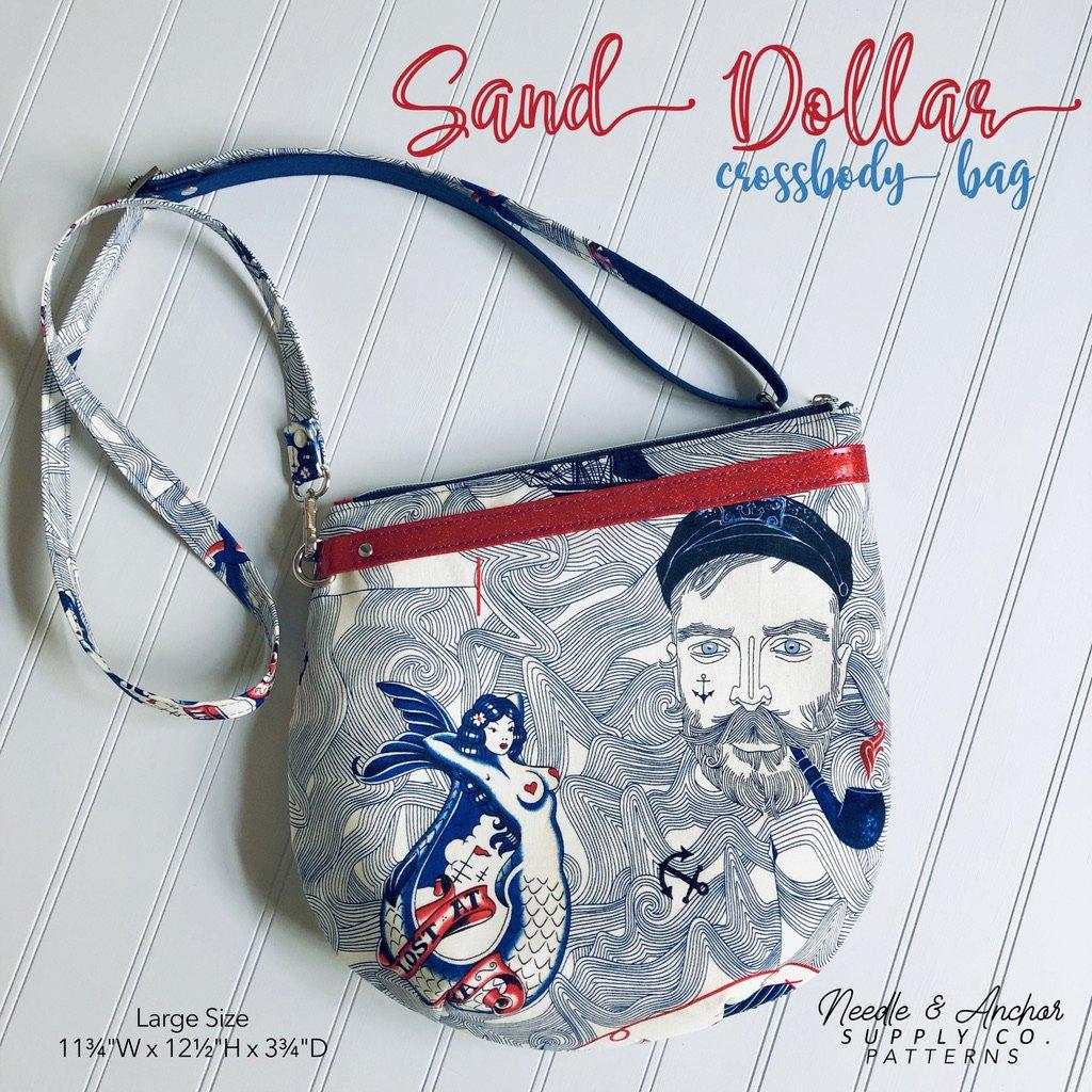Sand Dollar Crossbody Bag Acrylic Templates