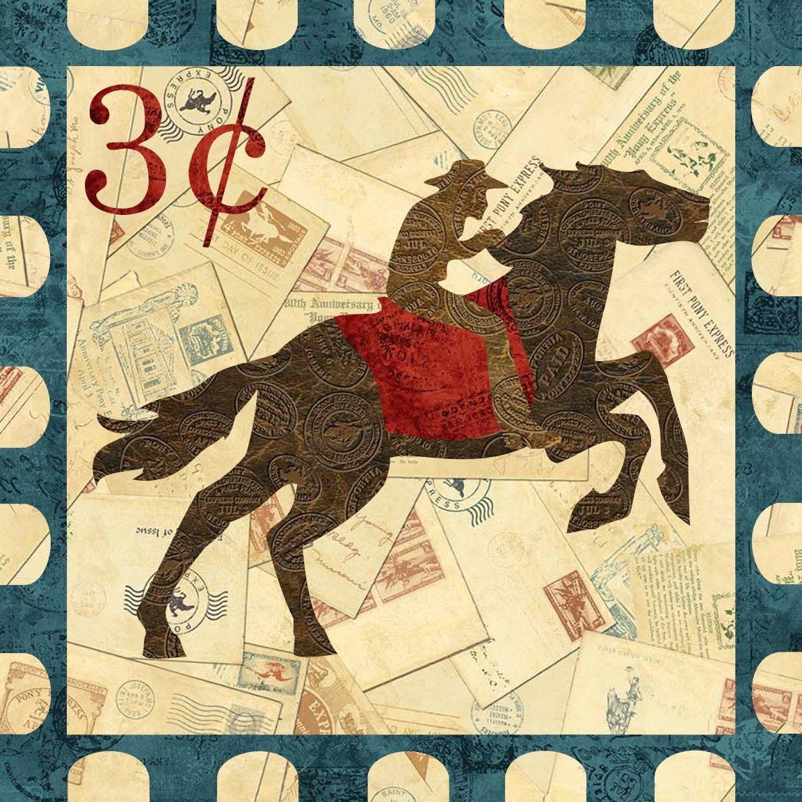 Pony Postage Block Pattern