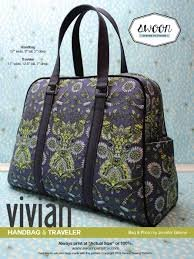 Vivian Handbag and Traveler pattern from Swoon Sewing Patterns by Alicia Miller
