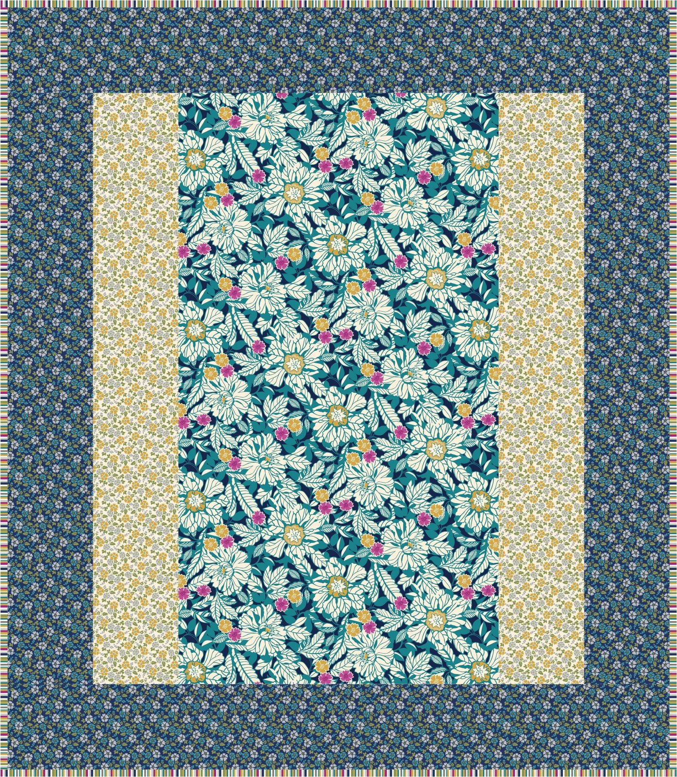Blue Willowberry 1 Hour Quilt Kit