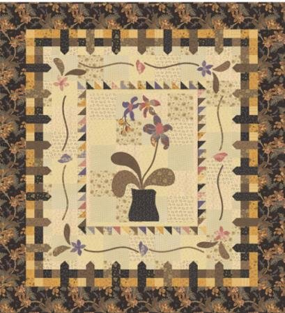 Wild Orchid Quilt Kit Brown