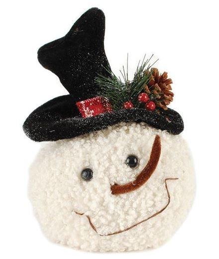Smiling Snowman Head w/ Black Hat