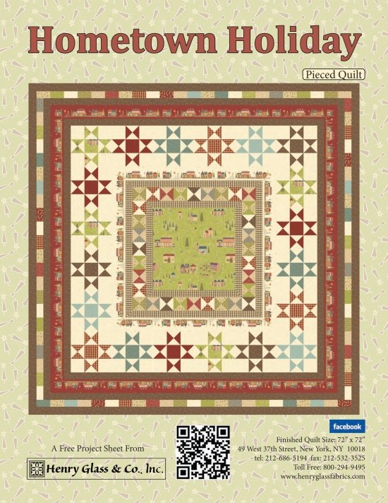 Hometown Holiday Pieced Quilt Kit with Free Pattern