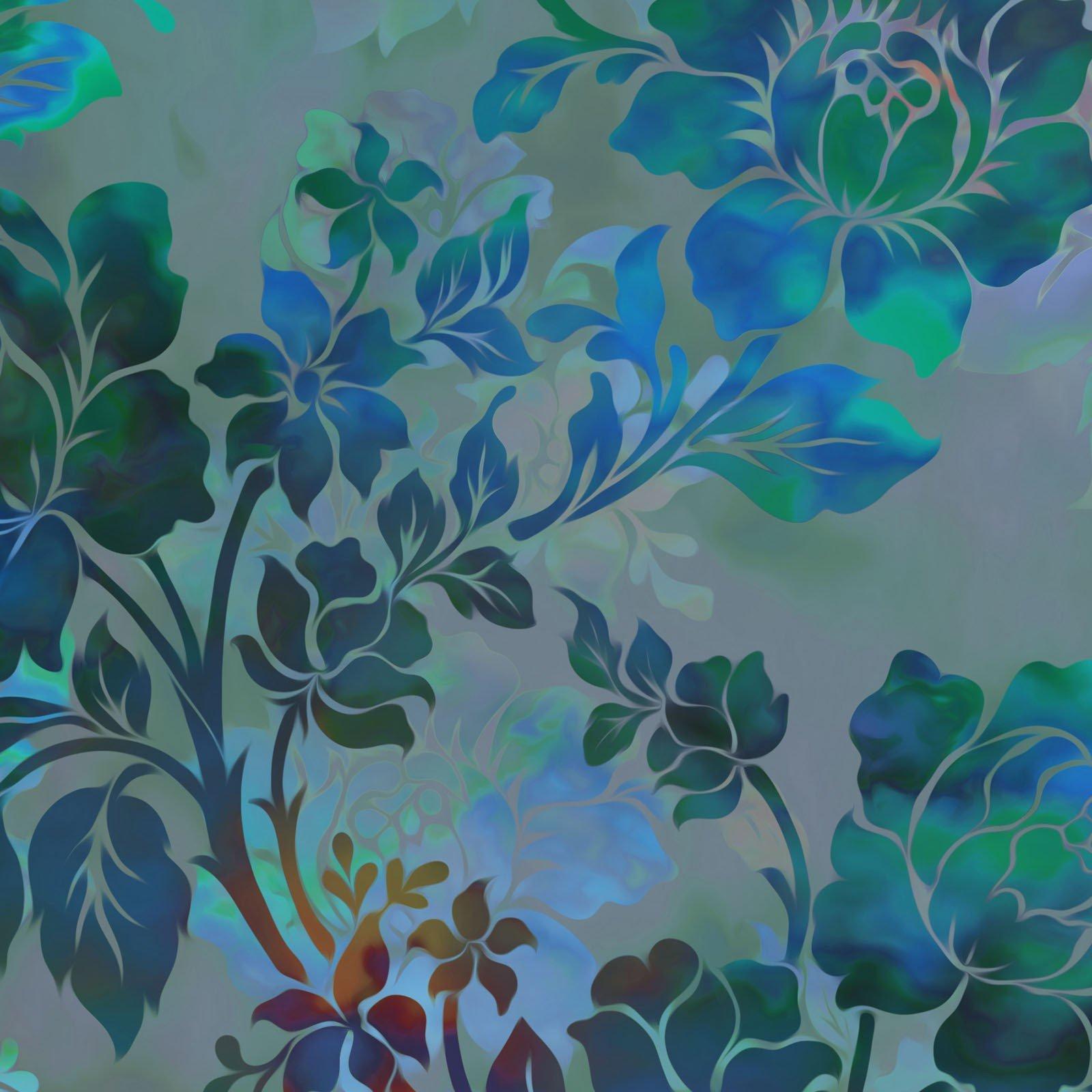 Diaphanous 1ENC-4 Teal Night Bloom