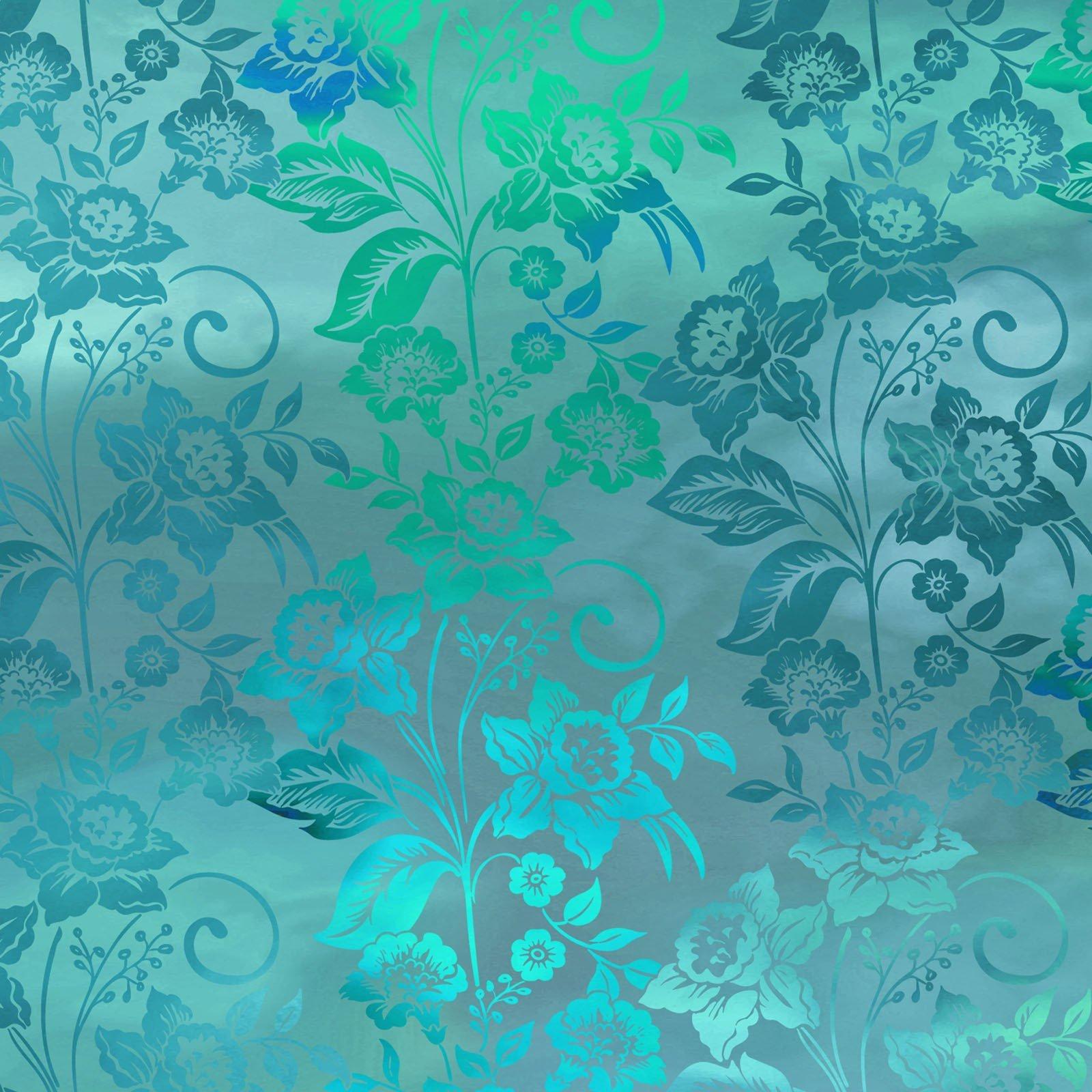 Diaphanous 5ENC-3 Teal Mist Enchanted Vines