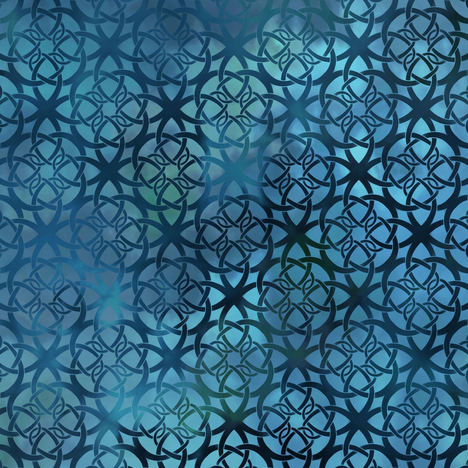 Diaphanous 7ENC-3 Turquoise Trellis