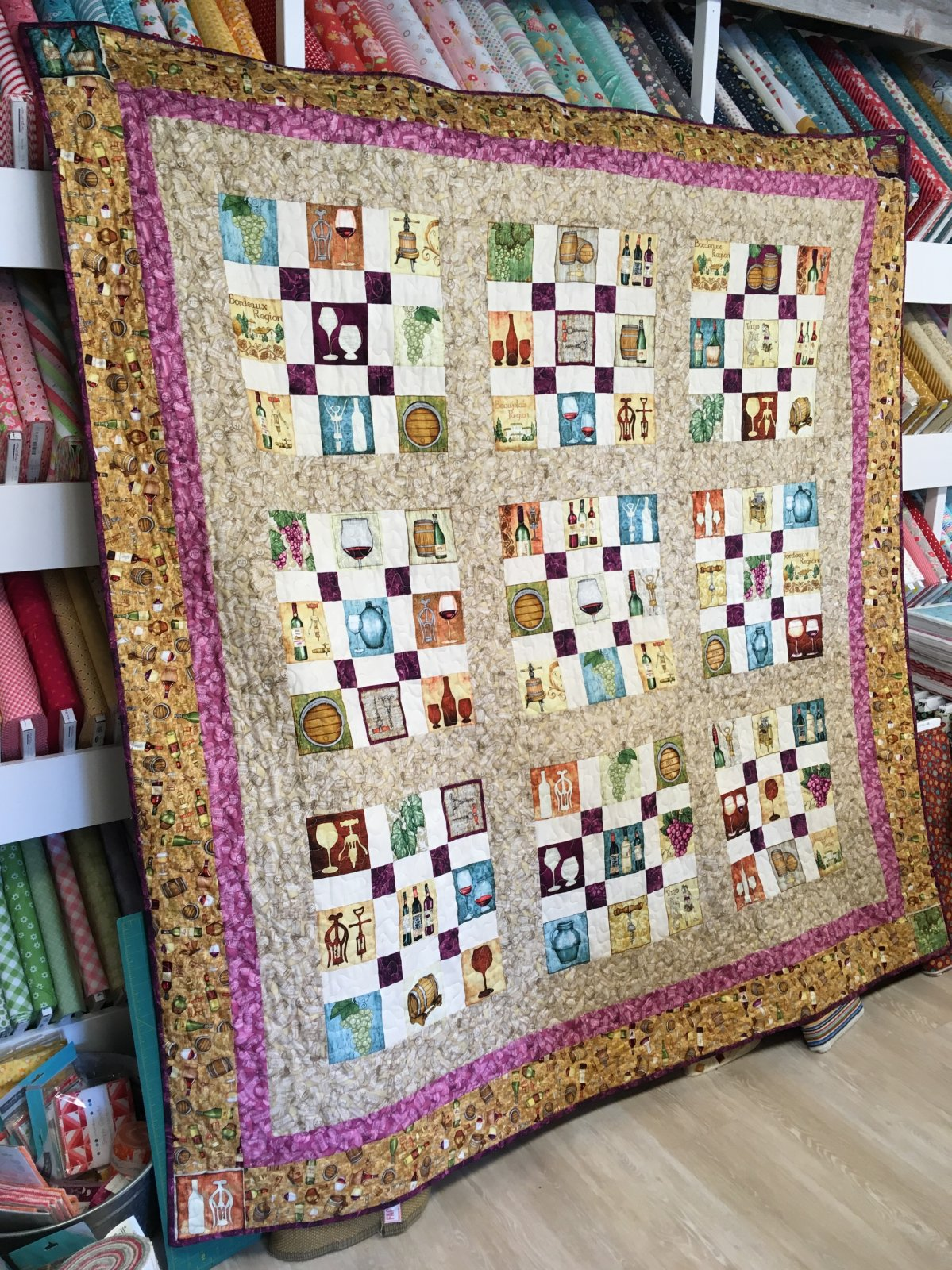 Perfectly Vintage 76 X 76 Wine Quilt Kit WINE76X76KIT