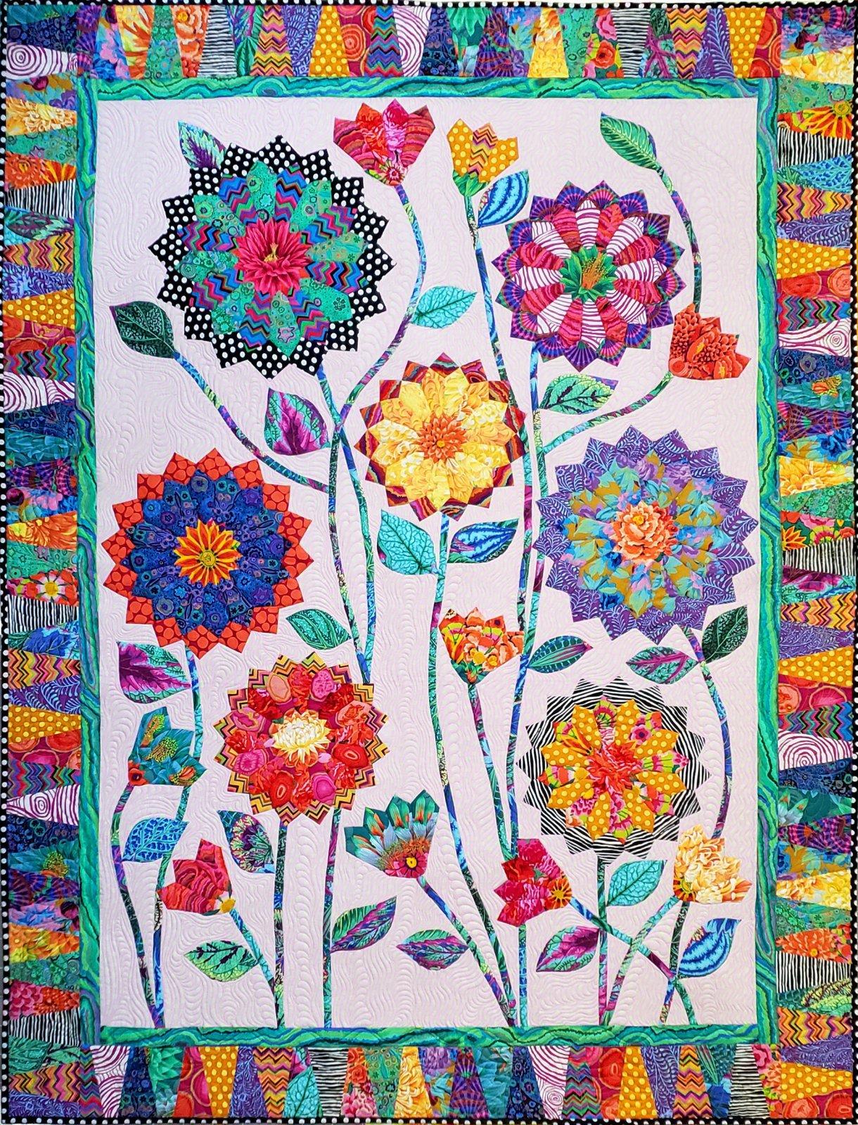Big Blooms Quilt Kit & Backing