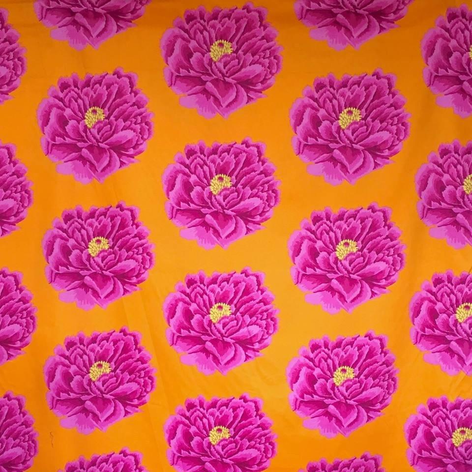 Full Blown - Pink/Orange 108 x 108
