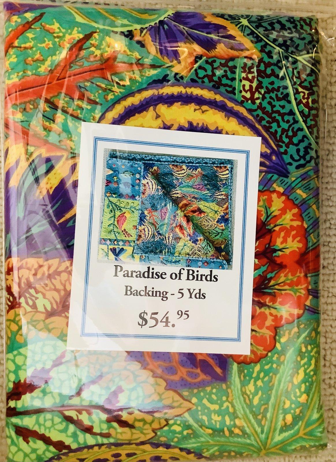Paradise of Birds Backing
