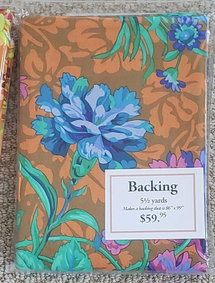 Baroque Floral - Blue- 5 1/2 yards - copy