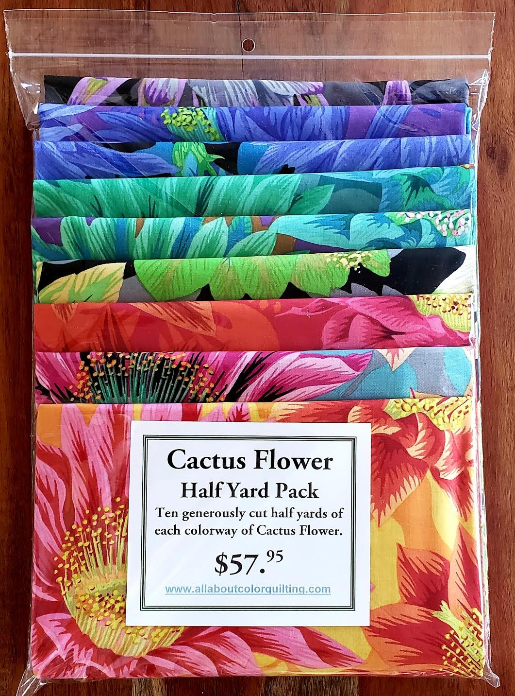 Cactus Flower Packet of Ten Half Yards