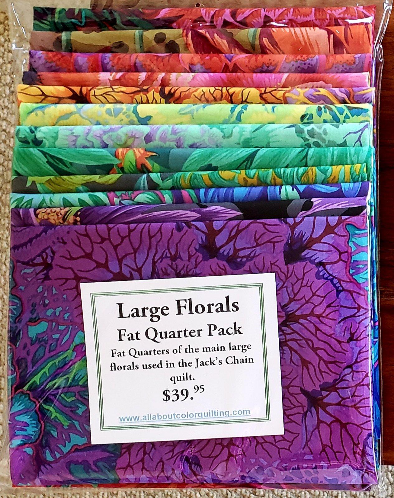 Large Florals - Fat Quarters