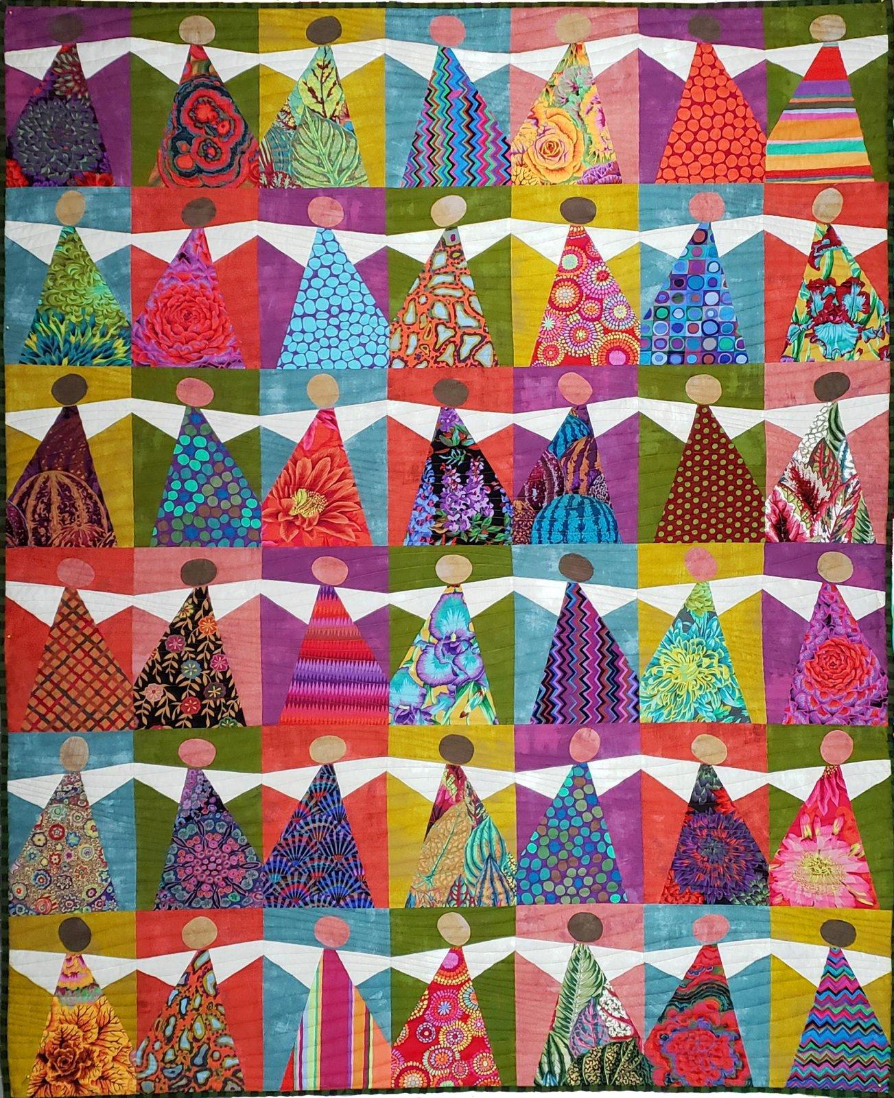 Angel Quilt Background & Pattern