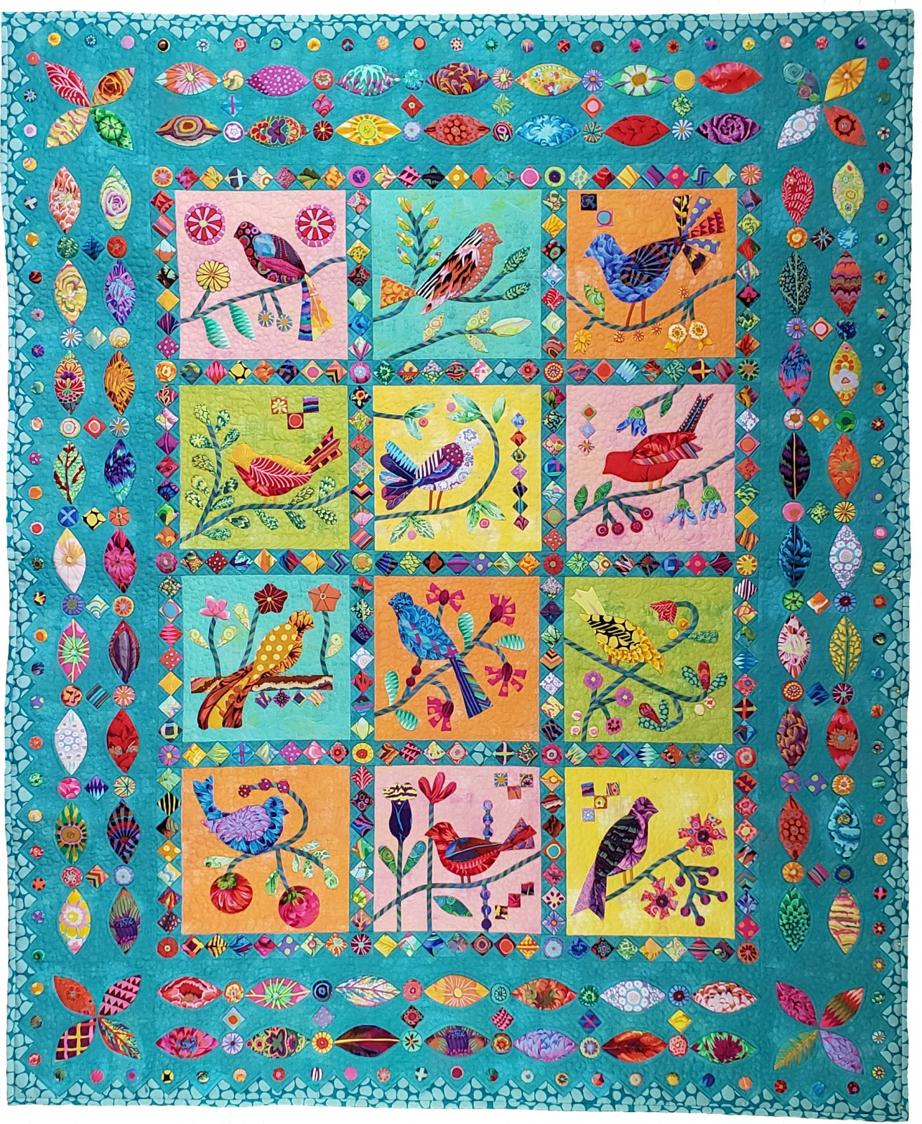 Paradise of Birds Quilt Kit & Backing