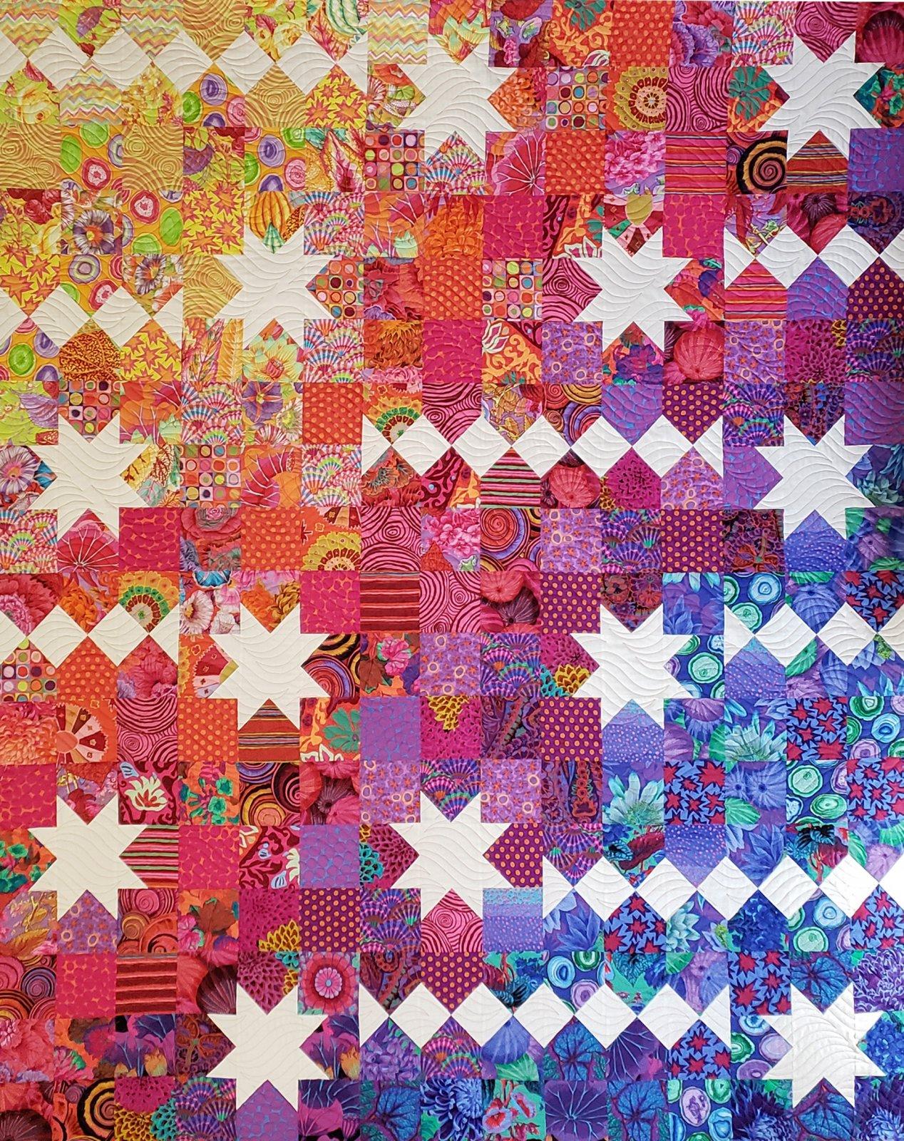 Carnival Stars Pattern  & White Fabric