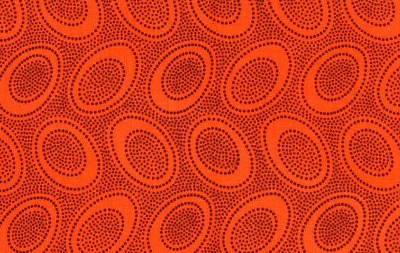 Aboriginal Dots - Orange
